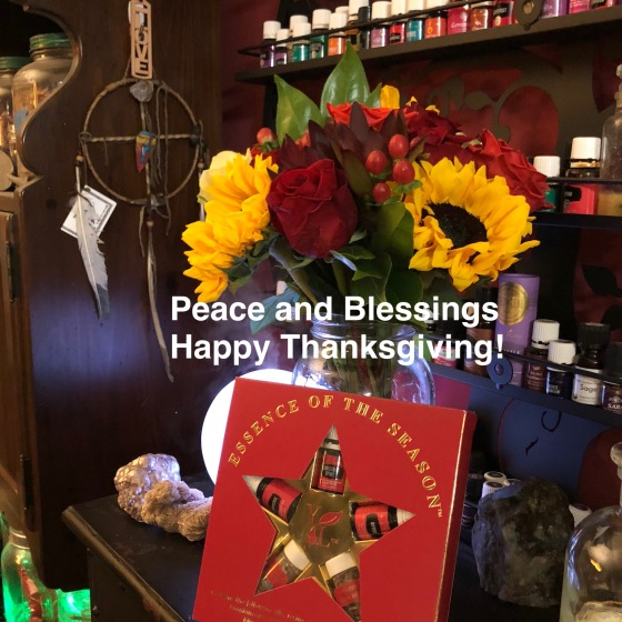 Thanksgiving Flowers, Rocks,  Blessings and Peace