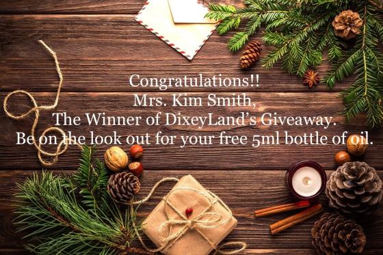 DixeyLand Giveaway Winner