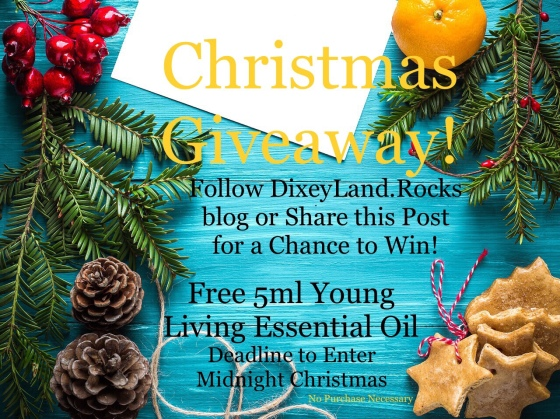 Christmas Giveaway 5ml Young Living Essential Oil