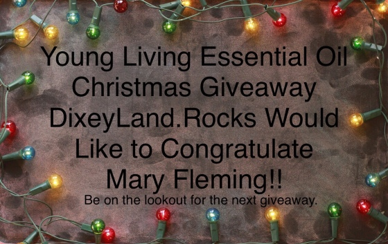 DixeyLand.Rocks Young Living Essential Oil Christmas Giveaway Winner