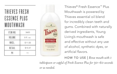 Thieves Fresh Essence Plus Mouthwash Giveaway